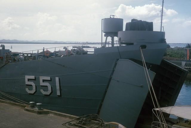 19651024FTB-87  USS Chesterfield County LST-551  Naval Base  San Juan, Puerto Rico  24 Oct 1965