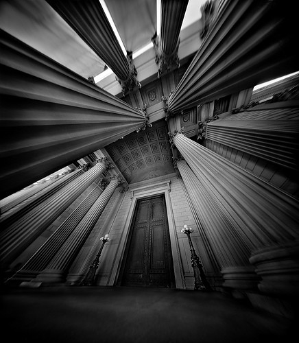 The Archives, 4x5 Film Pinhole Photograph
