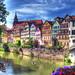 Tübingen, Neckarfront by chop1n