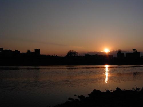 Tamagawa sunset