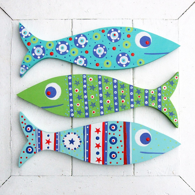 Wooden Fish Decorations Flickr Photo Sharing