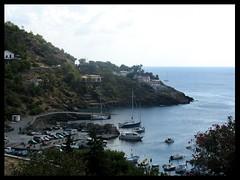 Panoramica del porto di Ustica