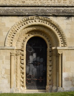 South Portal, St Mary the Virgin, Iffley, Oxford, England - Norman-Romanesque stone carving