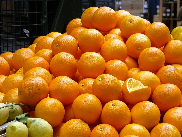 Oranges in The Borough market. London