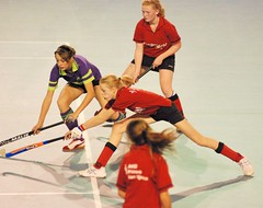 volleyball player(0.0), roller in-line hockey(0.0), floorball(0.0), stick and ball games(1.0), floor hockey(1.0), sports(1.0), indoor field hockey(1.0), team sport(1.0), hockey(1.0), ball game(1.0), athlete(1.0),