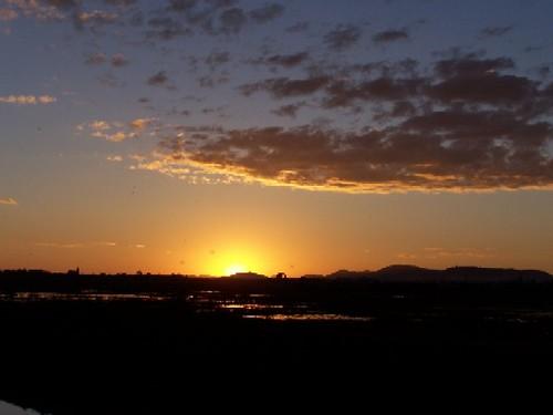 sunset sky orange clouds madagascar