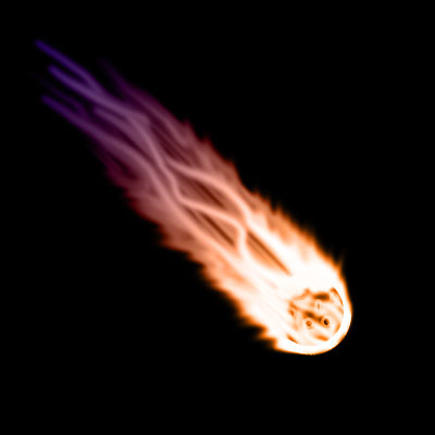 flaming asteroid hitting the earth - photo #10