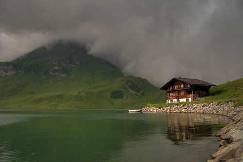 morning sky mountain lake alps nature water clouds sunrise landscape switzerland melchseefrutt melchsee