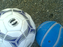 ball, blue, ball, football,