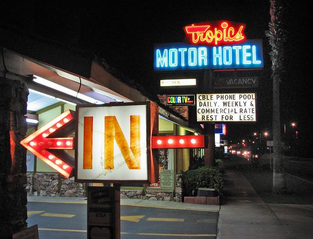 Tropics Motor Hotel - 82297 Indio Boulevard, Indio, California U.S.A. - September 22, 2010