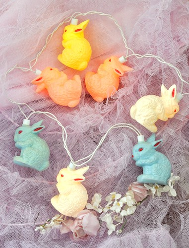Blow mold bunny lights
