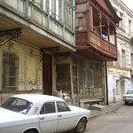 Balconies and Cars on the Street - Tbilisi, Georgia