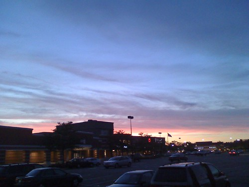 Sunset at Edens Plaza