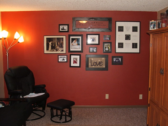 Red Accent Wall Extraordinary With Red Accent Wall | Flickr  Photo Sharing! Photos