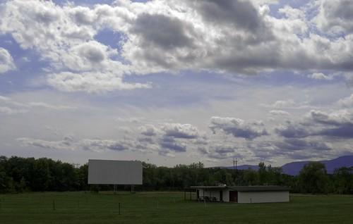 cinema clouds drivein upstatenewyork movies greenville theatres smalltowns necking