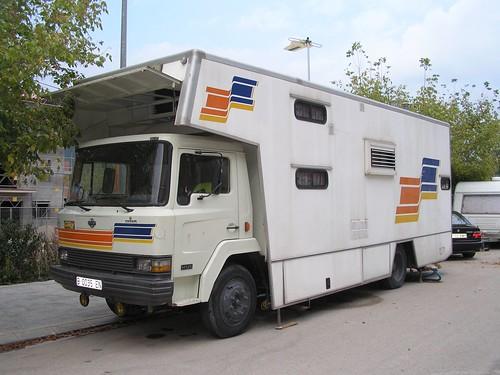 camió Ebro d'un firaire a Sant Joan de les Abadesses (Girona)