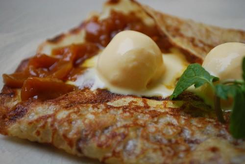 Mango Crepes - close-up - Green Tangerine VND169k set lunch