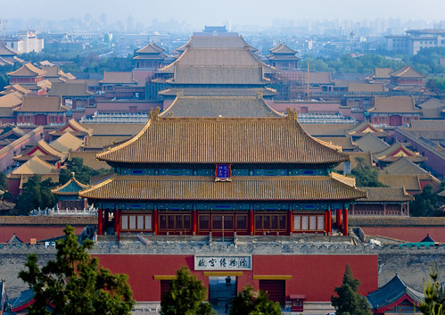 Forbidden City from Jingshan Park, Beijing, China