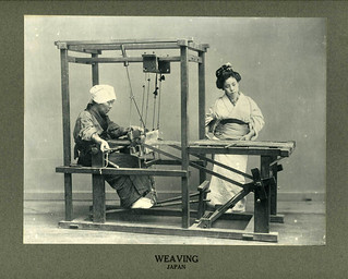 Japanese Women Weaving about 1900