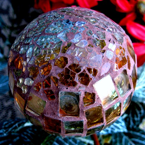 broken glass surfaced ball