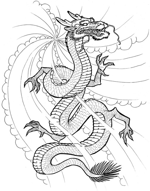 Japanese Smoke Drawing Dragon smoke  Here s my