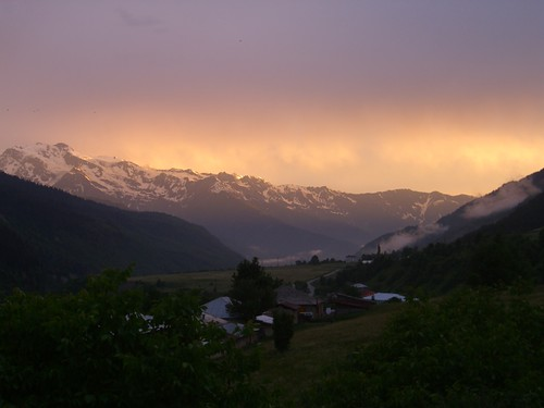 sunset mountains georgia districtofcolumbia dpn svaneti