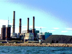 Brayton Point with coal pile