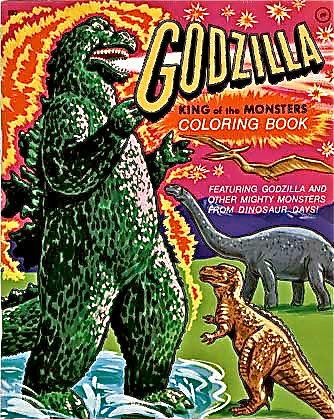 Kickass Godzilla Coloring Book