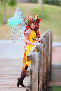 Twig the Fairy on the bridge in Sunburst Yellow