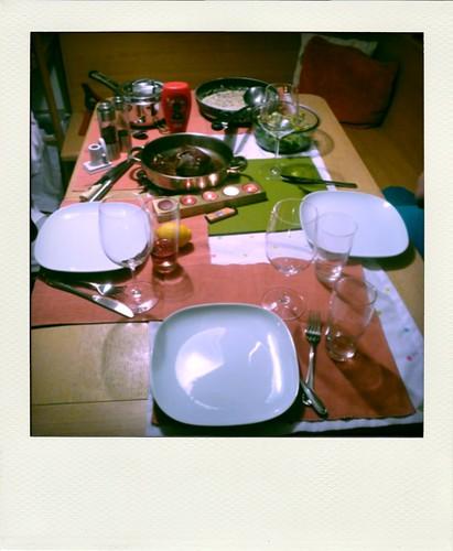 dinner table.