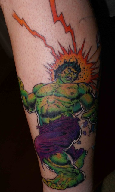 Hulk Tattoo with color