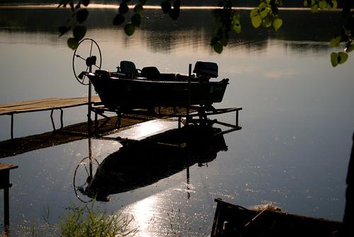 summer lake reflection sunrise boat dock cabin nikon indiana lowell nikond40x d40x