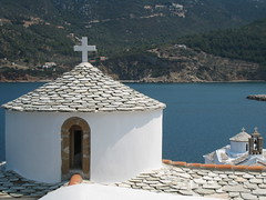 Skopelos old church view