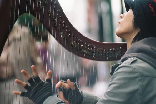 Japanese harp busker