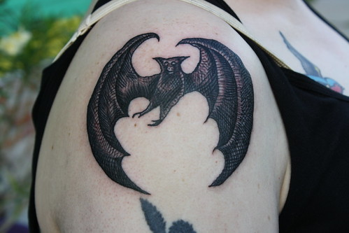 edward gorey bat tattoo