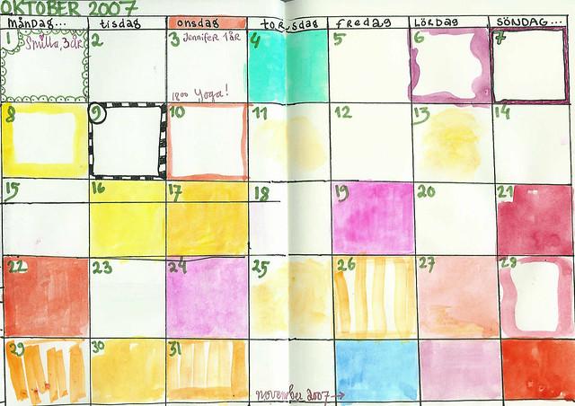 Oktober i min dagbok