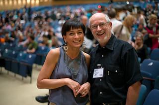Simone Wolf und Manfred Fäh auf der TYPO Berlin 2010