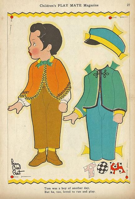 Vintage Paper Doll, Tom