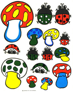 Logix Deco Stickers - Mushrooms & Bugs - 1971