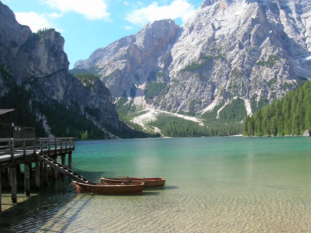 Vacances dolomites juin 2006 north italy lac de braies for Best view of dolomites