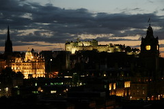 North Bridge and Edinburgh Castle from Calton Hill.  Friday 14th September