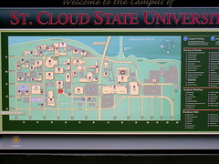 St Cloud Campus Map.Map Of Campus St Cloud State University It Is Larger Th Flickr