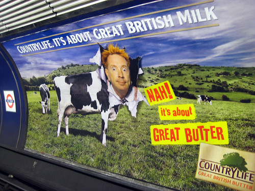Johnny Rotten Butter ad on the Tube