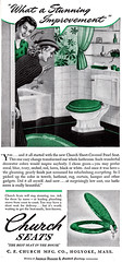 Vintage Toilet Seat Advert, This Time in Green