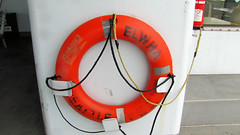 wheel(0.0), number(0.0), personal flotation device(0.0), red(1.0), lifebuoy(1.0), circle(1.0),