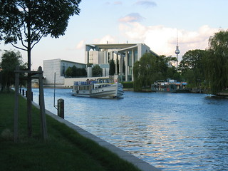 Image of  German Chancellery  near  Tiergarten. berlin