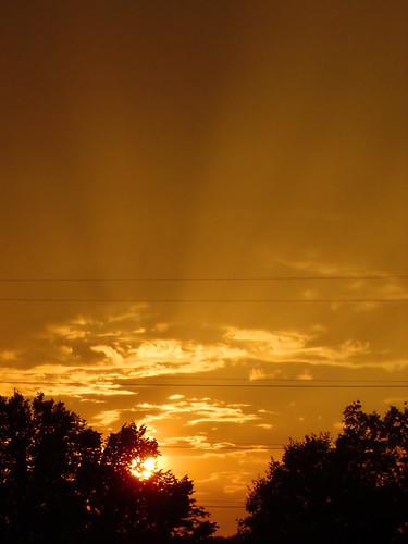 sky sun set rays rise
