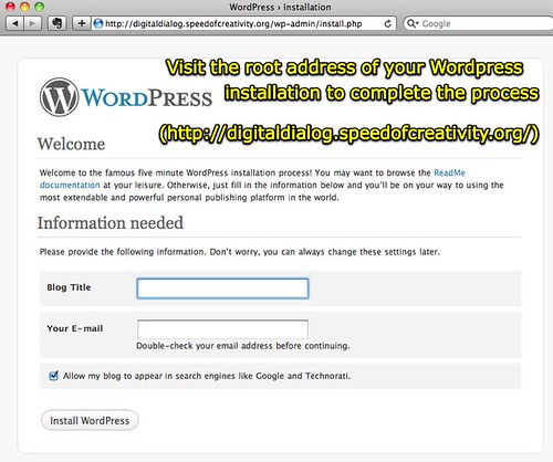 Moving at the Speed of Creativity - Setup a new WordPress installation as a subdomain with ...