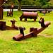 Wooden animal playground