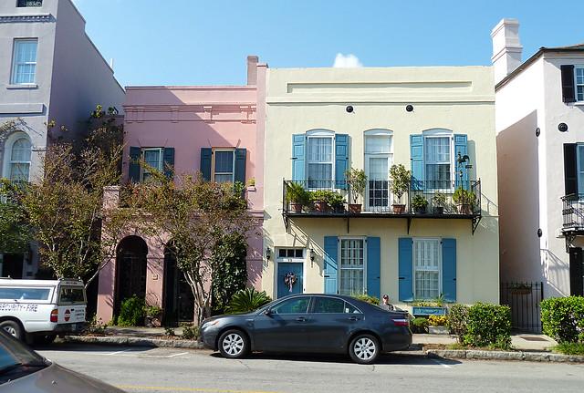 Rainbow row flickr photo sharing for Charleston row houses